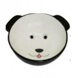 Yarro - Miska ceramiczna Pies czarna