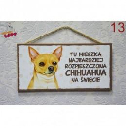 """Tabliczka z rasą psa """"Chihuahua"""""""