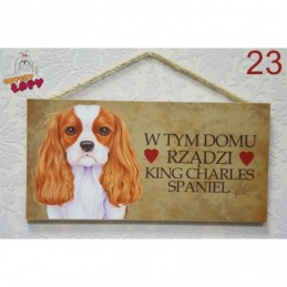 """Tabliczka z rasą psa """"King Charles Spaniel"""""""