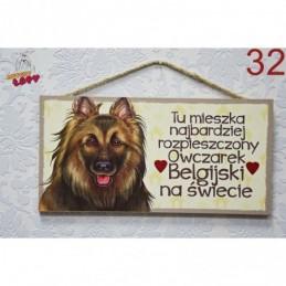 """Tabliczka z rasą psa """"Owczrek Belgijski"""""""