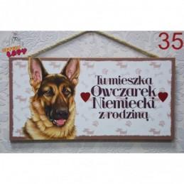"""Tabliczka z rasą psa """"Owczrek Niemiecki"""""""