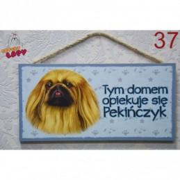 "Tabliczka z rasą psa ""Pekińczyk"""
