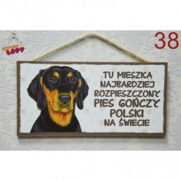 """Tabliczka z rasą psa """"Gończy Polski"""""""
