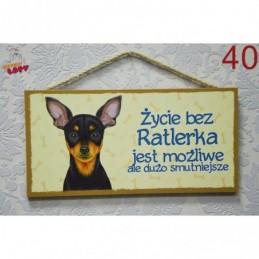 """Tabliczka z rasą psa """"Ratlerek"""""""