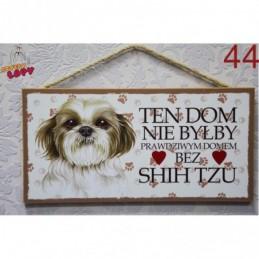 """Tabliczka z rasą psa """"Shih Tzu"""""""