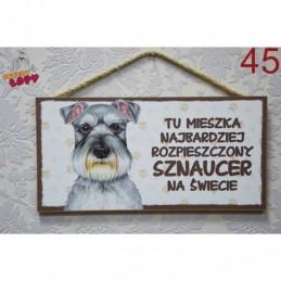 """Tabliczka z rasą psa """"Sznaucer"""""""