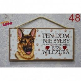 """Tabliczka z rasą psa """"Wilczur"""""""