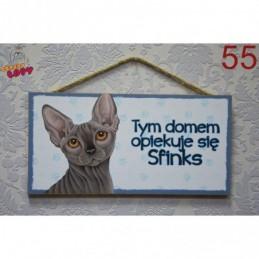 """Tabliczka z rasą kota """"Sfinks"""""""