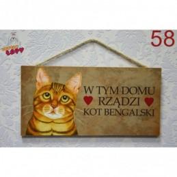 "Tabliczka z rasą kota ""Bengalski"""