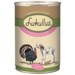 Lukullus - Junior -Serca indycze z jagnięciną - 400g