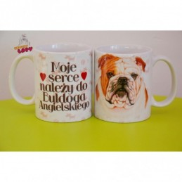 Kubek z rasą psa - Buldog Angielski