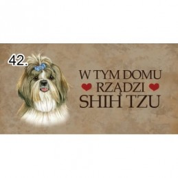 Magnes z rasą psa - Shih Tzu
