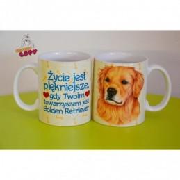 Kubek z rasą psa - Golden Retriver
