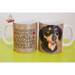 Kubek z rasą psa - Jamnik