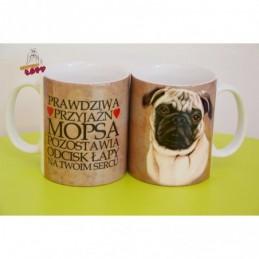 Kubek z rasą psa - Mops