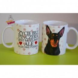 Kubek z rasą psa - Pinczer