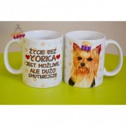 Kubek z rasą psa - York