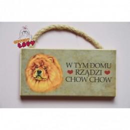 Magnes z rasą psa - Chow Chow