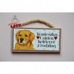 Magnes z rasą psa - Golden Retriever