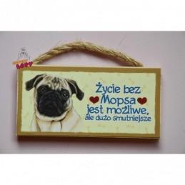 Magnes z rasą psa - Mops