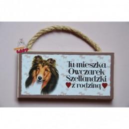 Magnes z rasą psa - Owczarek Szetlandzki