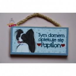 Magnes z rasą psa - Papilon