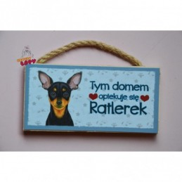 Magnes z rasą psa - Ratlerek
