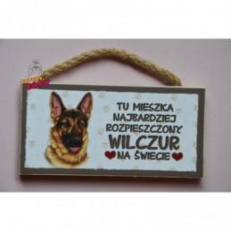 Magnes z rasą psa - Wilczur
