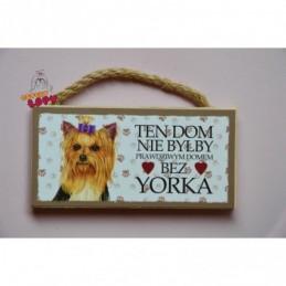 Magnes z rasą psa - York