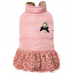 Dobaz L - Elegancka kurteczka z broszką i spódniczką