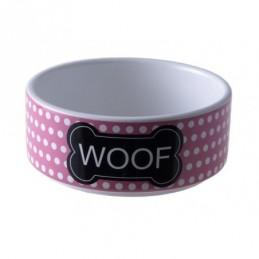 Yarro - Miska ceramiczna Woof różowa