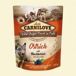 Carnilove Dog Puch Ostrich&Blackberries 300g Struś z jeżynami