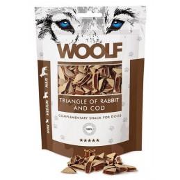 Woolf - Rabbit & COD Triangle 100g - Trójkąciki z królikiem i dorszem