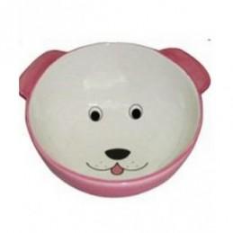 Yarro - Miska ceramiczna Pies różowa